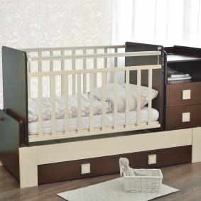 кроватка с пеленальным столиком фото интерьера
