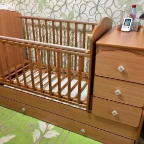 кроватка с пеленальным столиком фото оформления