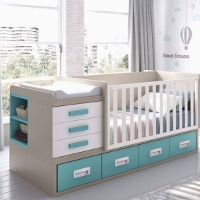 кроватка с пеленальным столиком фото видов