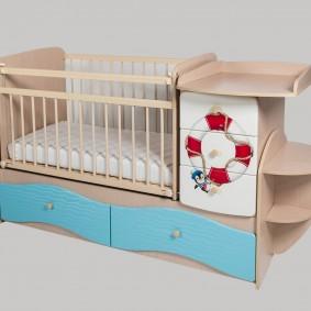 кроватка с пеленальным столиком фото идеи