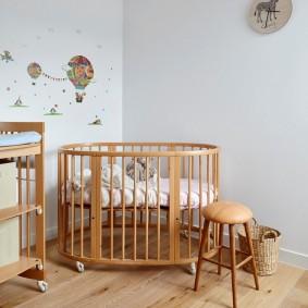кроватки для новорожденных оформление