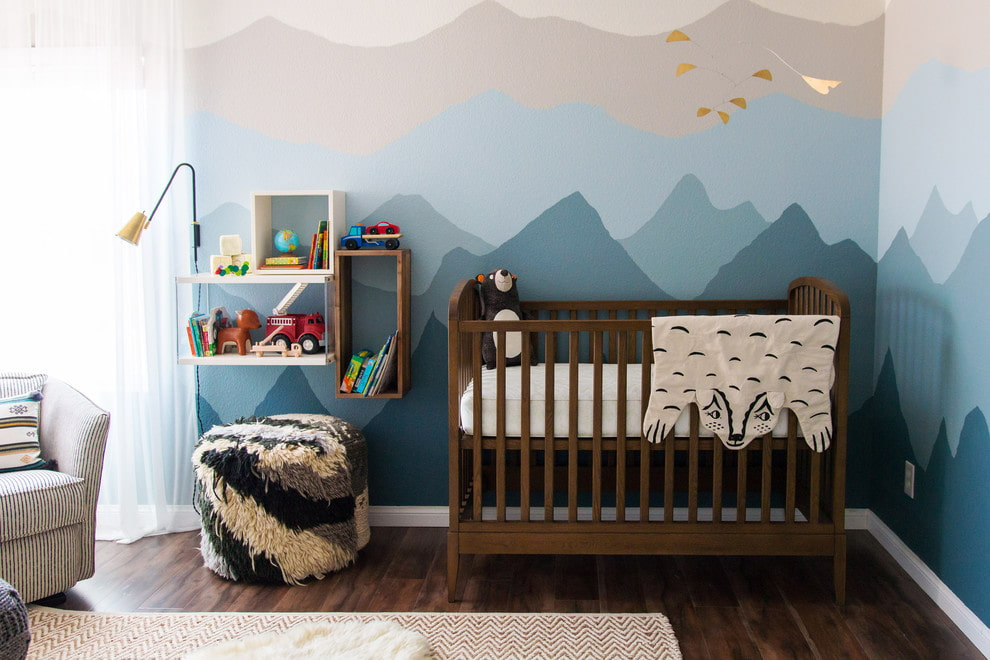 кроватки для новорожденных в интерьере