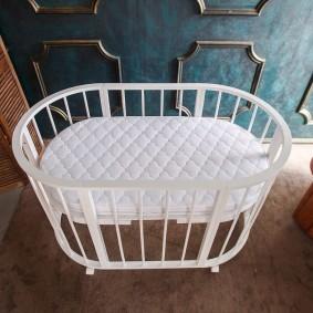 круглая детская кроватка идеи дизайна