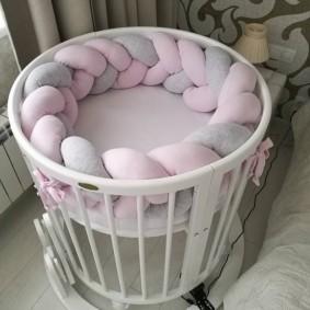 круглая детская кроватка фото декор