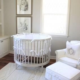 круглая детская кроватка фото интерьер