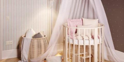 круглая детская кроватка идеи интерьера