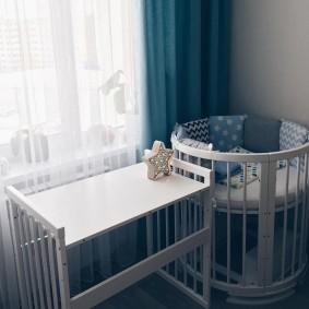 круглая детская кроватка оформление идеи