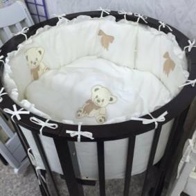 круглая детская кроватка фото варианты