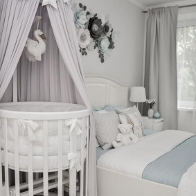 круглая детская кроватка фото вариантов