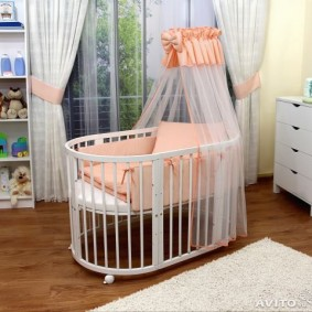 круглая детская кроватка варианты идеи