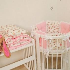 круглая детская кроватка фото виды