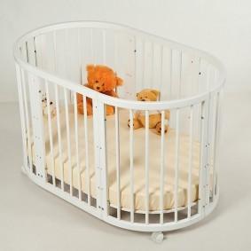 круглая детская кроватка идеи виды