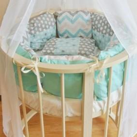 круглая детская кроватка виды дизайна