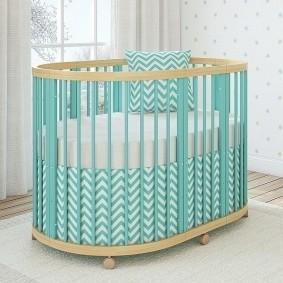 круглая детская кроватка дизайн