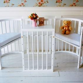 круглая детская кроватка дизайн фото