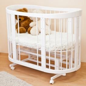 круглая детская кроватка фото дизайн