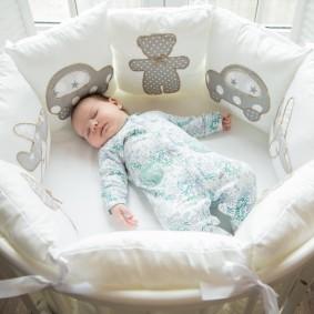 круглая детская кроватка дизайн идеи