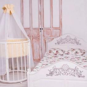 круглая детская кроватка фото дизайна