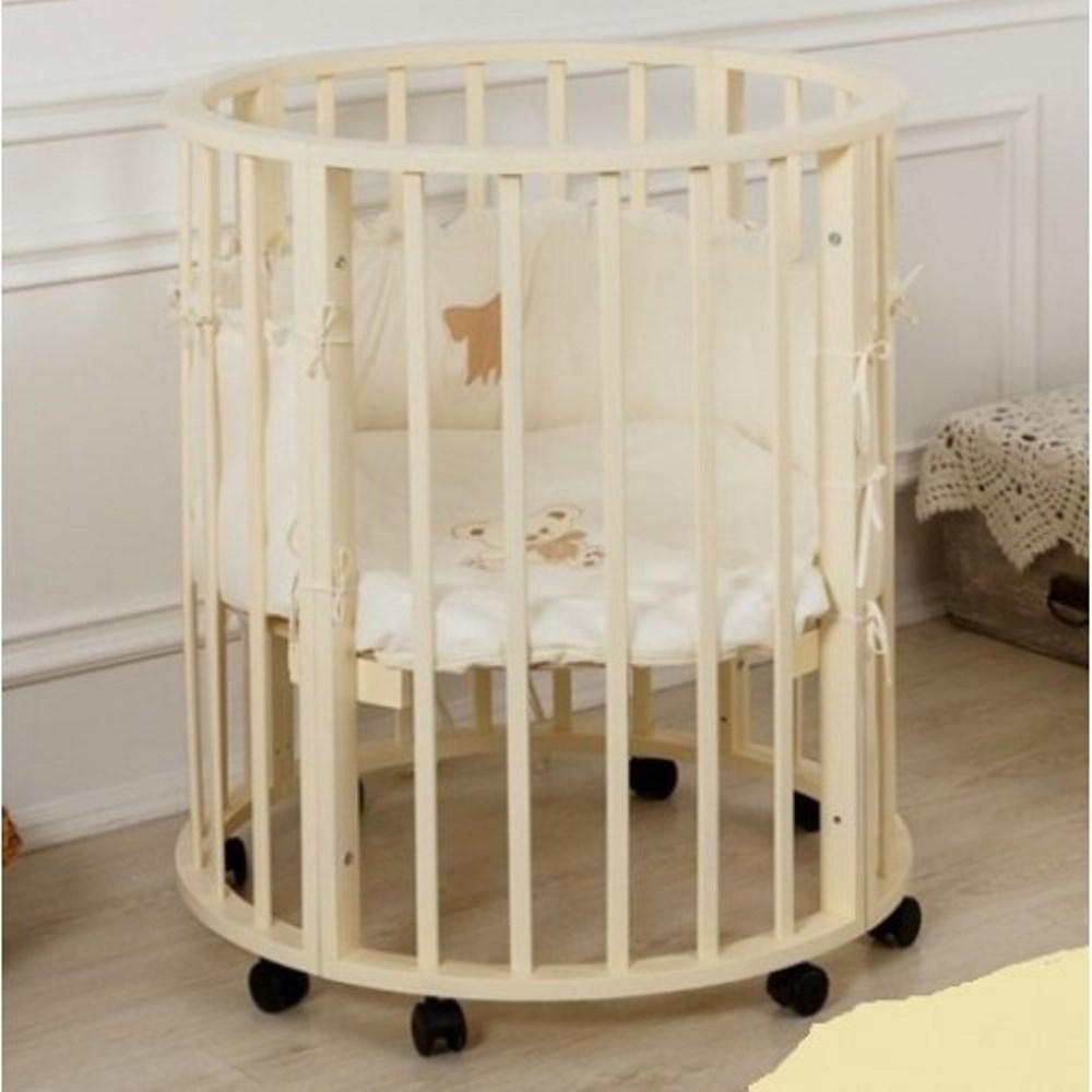 круглая детская кроватка фото идеи