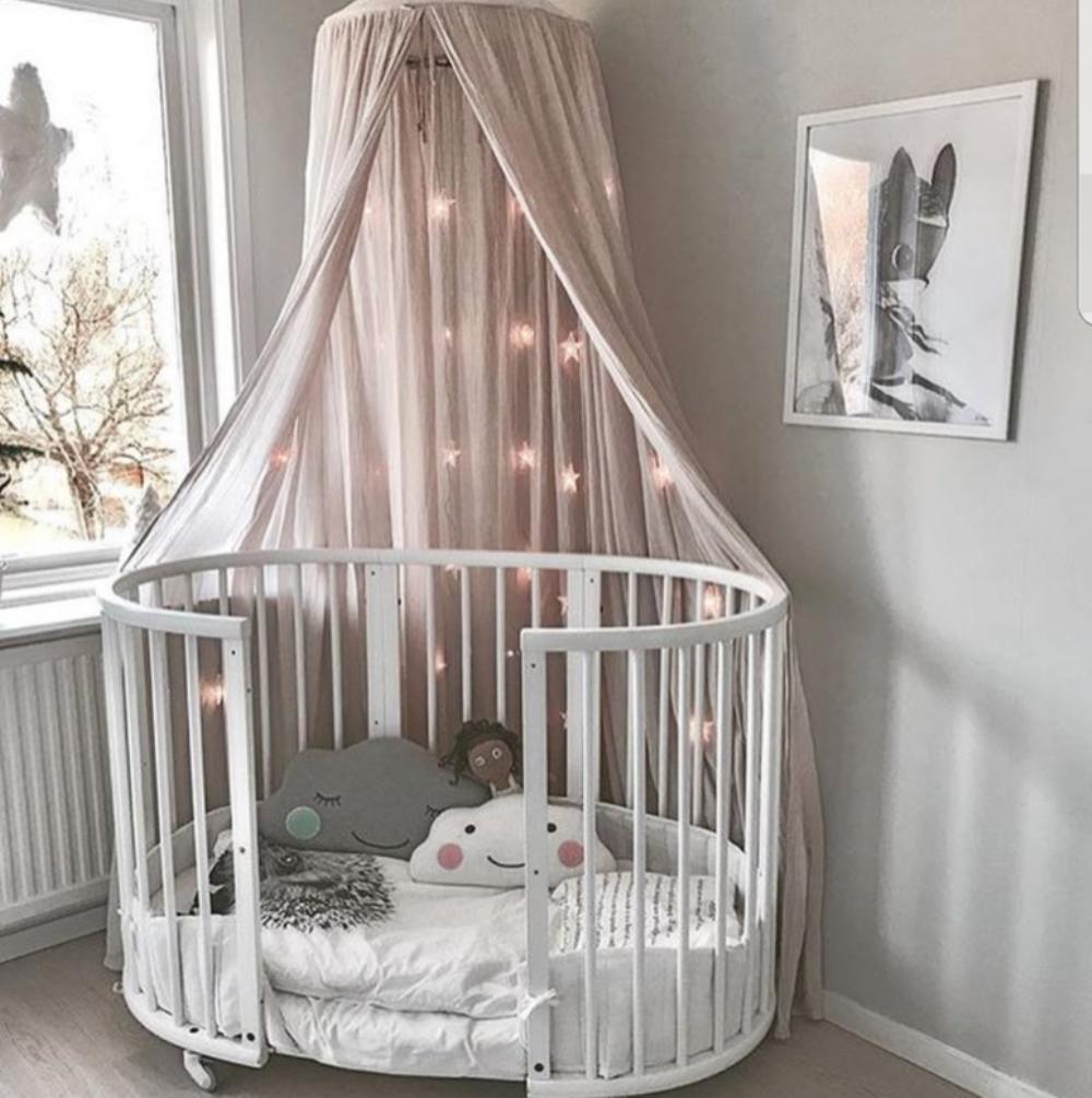 круглая детская кроватка фото оформления