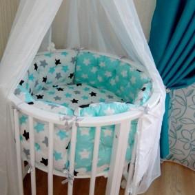 круглая детская кроватка идеи дизайн