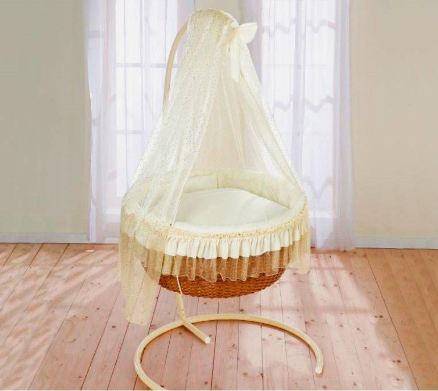 круглая детская кроватка подвесная