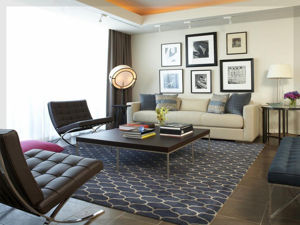 Подбор ковра в гостиную комнату с серым полом