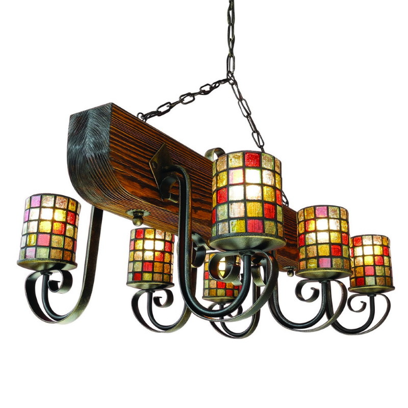 Винтажная люстра в прихожую деревенского стиля