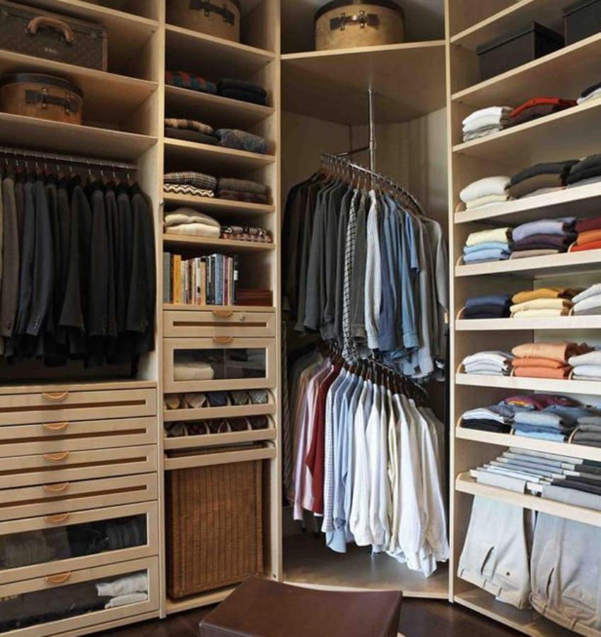 маленькая гардеробная комната обзор