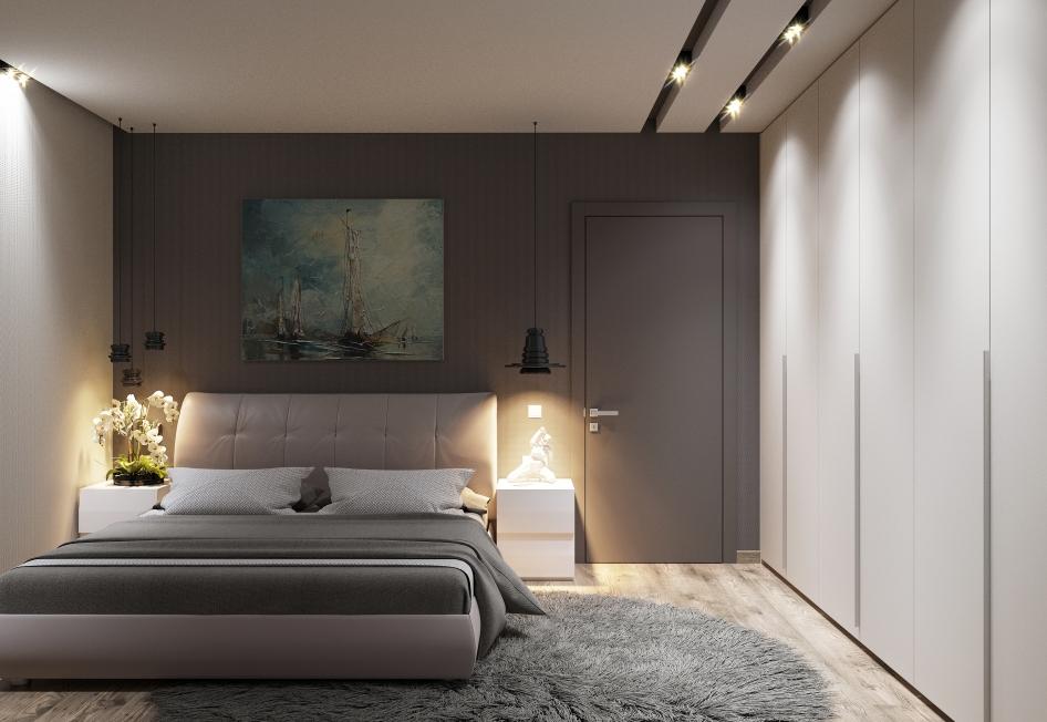 Освещение комнаты без окна в стиле минимализма