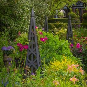 многолетние растения для сада оформление фото