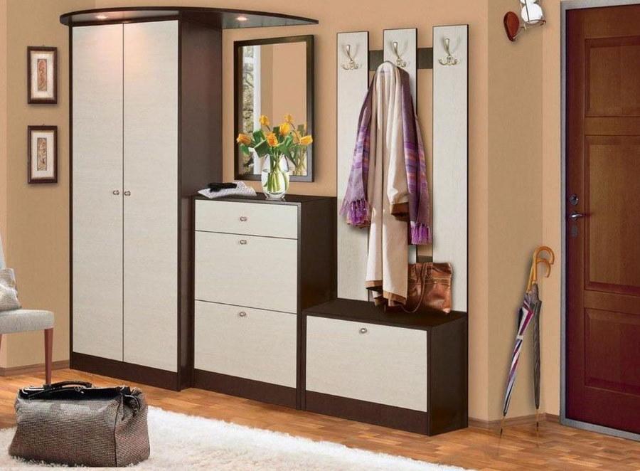 Модульная мебель в прихожей современного стиля