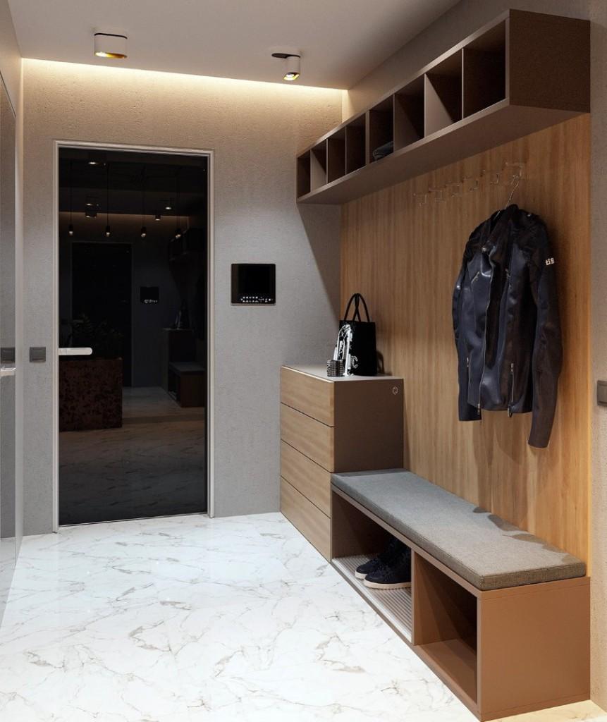 Модульная мебель для небольшой прихожей комнаты