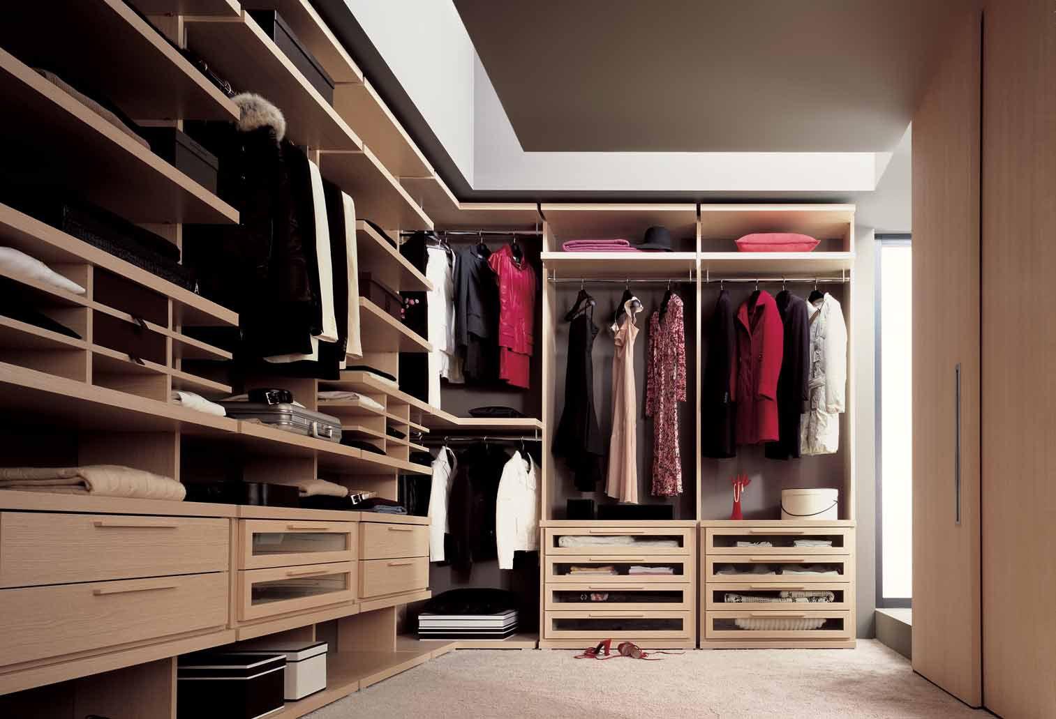 наполнение гардеробной ящики