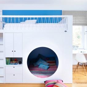 необычная детская кровать двухъярусная