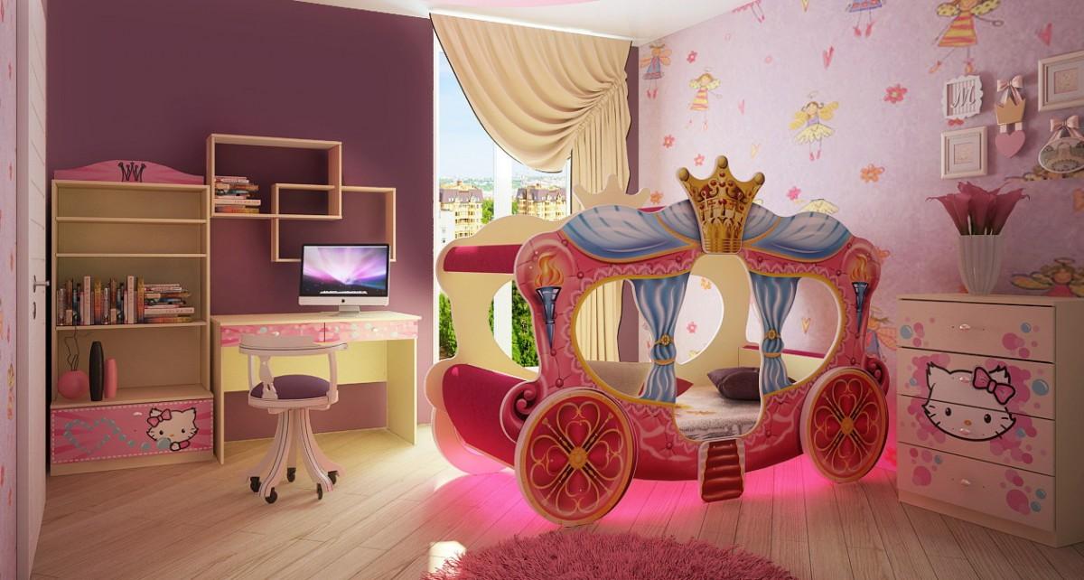 необычная детская кровать карета