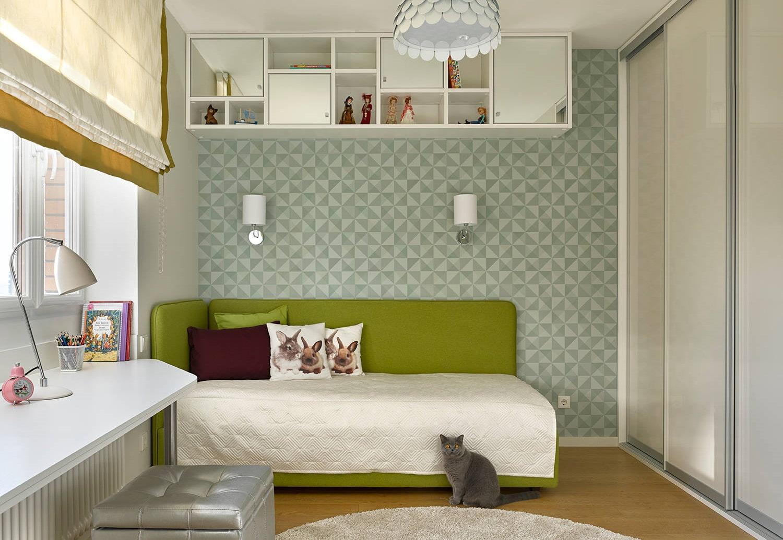 необычная детская кровать зелёная