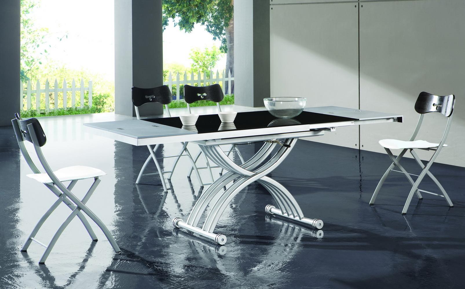 обеденный стол трансформер в гостиной фото