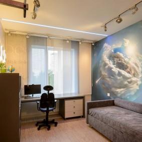 обои космос в комнате фото дизайн