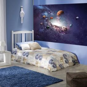 обои космос в комнате
