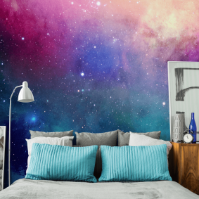 обои космос в комнате идеи фото