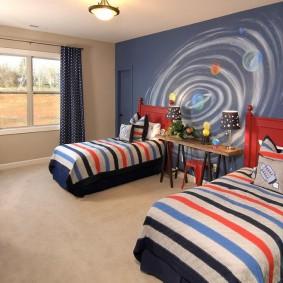 обои космос в комнате фото декор
