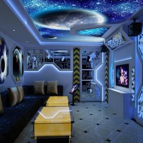 обои космос в комнате идеи декора
