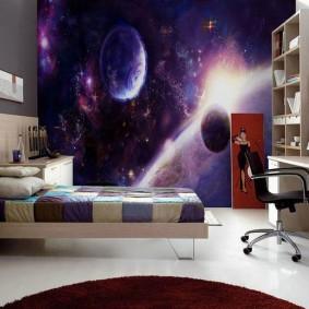обои космос в комнате идеи вариантов