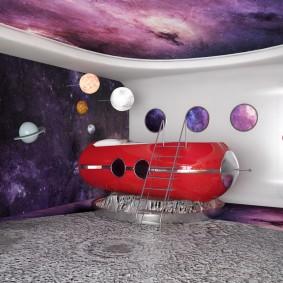 обои космос в комнате фото