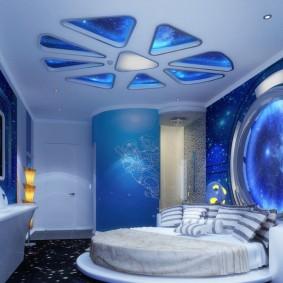 обои космос в комнате идеи интерьер