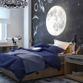 обои космос в комнате фото оформление
