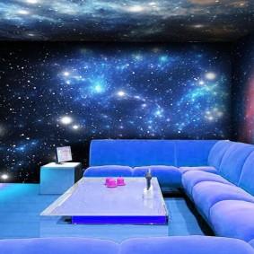 обои космос в комнате фото оформления