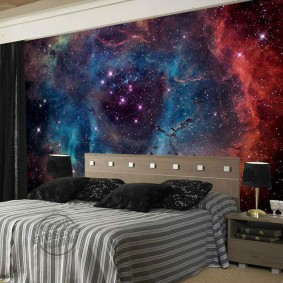 обои космос в комнате идеи оформления