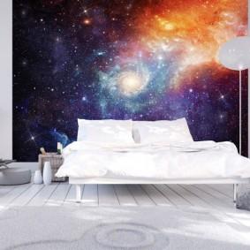 обои космос в комнате фото варианты